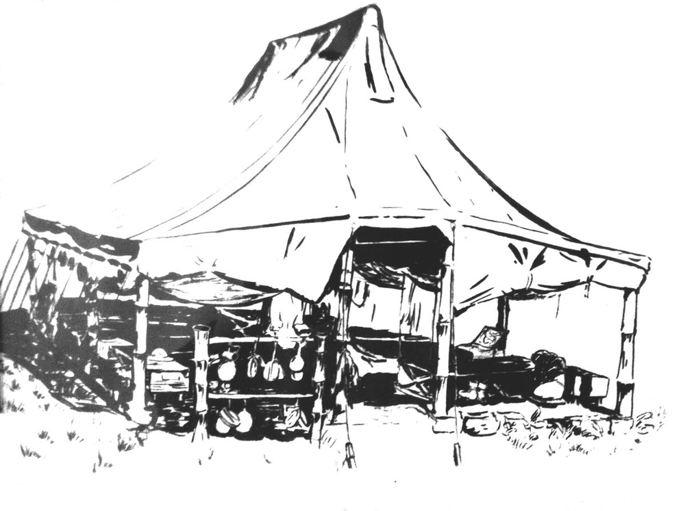 Drawing by JK Burnham during WWII