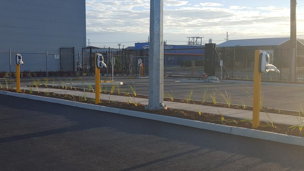 Wallpod EV Charger Carpark