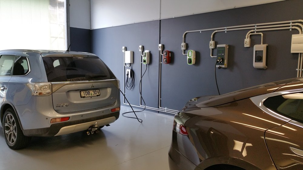 The one and only electric vehicle charging station showroom in Australia
