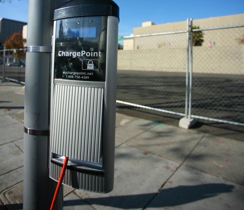 Chargepoint chargers back in 2014.