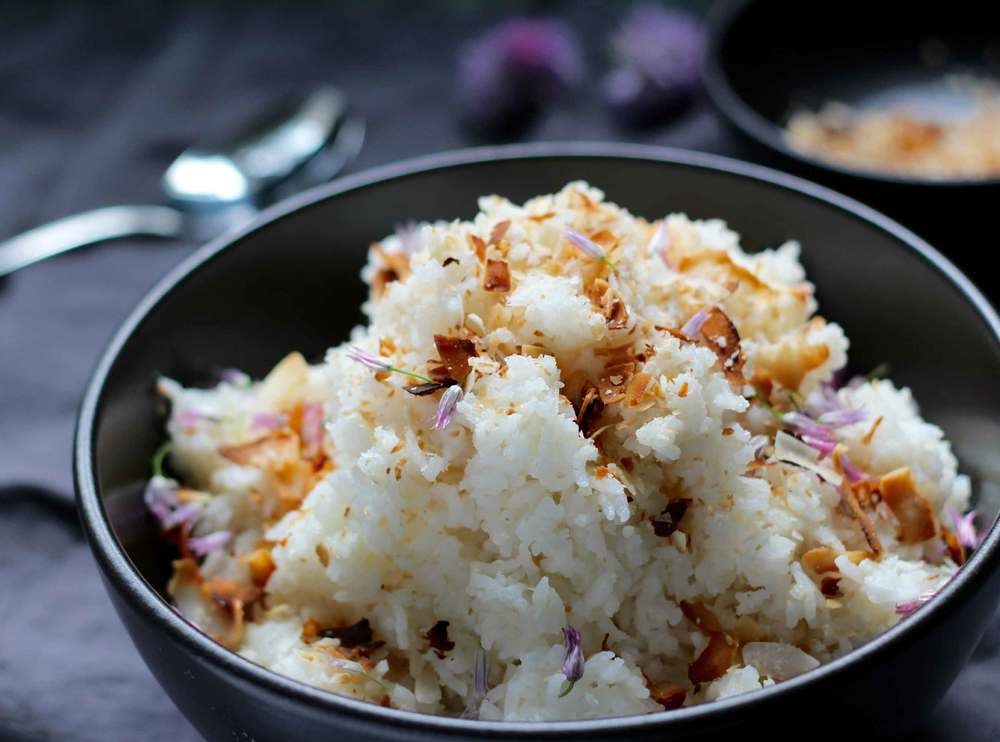 coconut-ginger rice recipe by Thread & Whisk