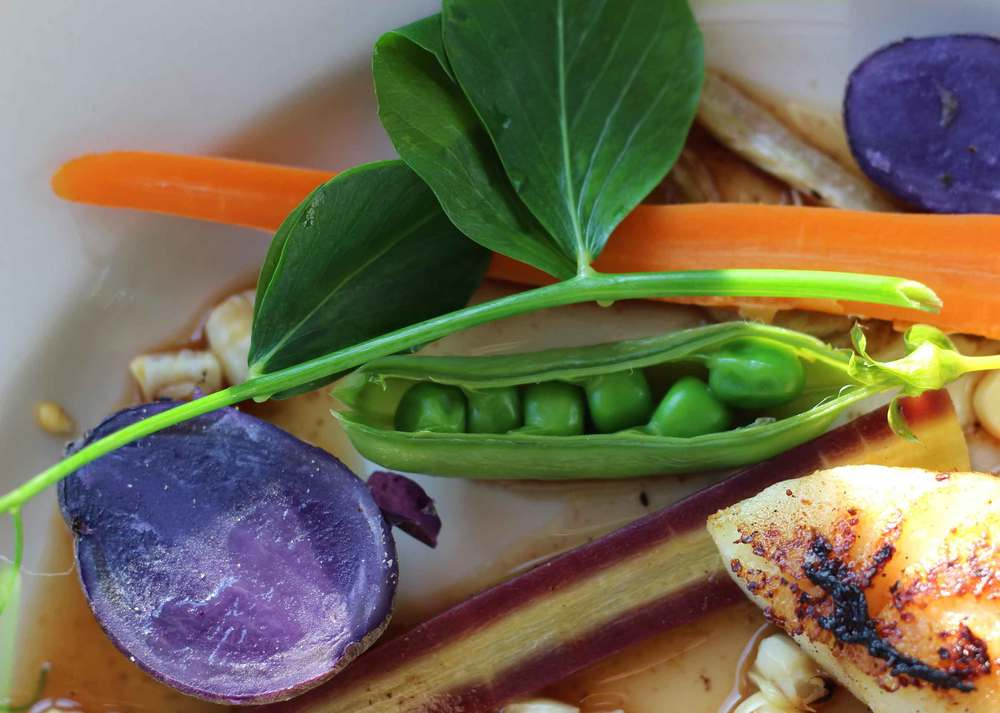 colorful vegetables prepared by Thread & Whisk