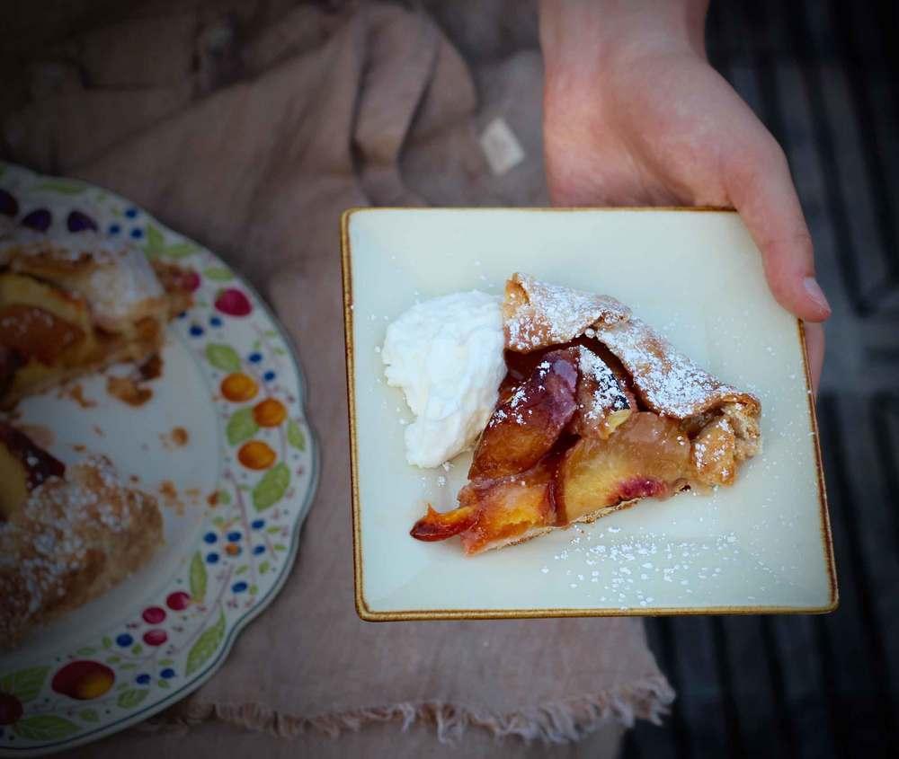 peach crostata, peaches, recipe by Thread & Whisk
