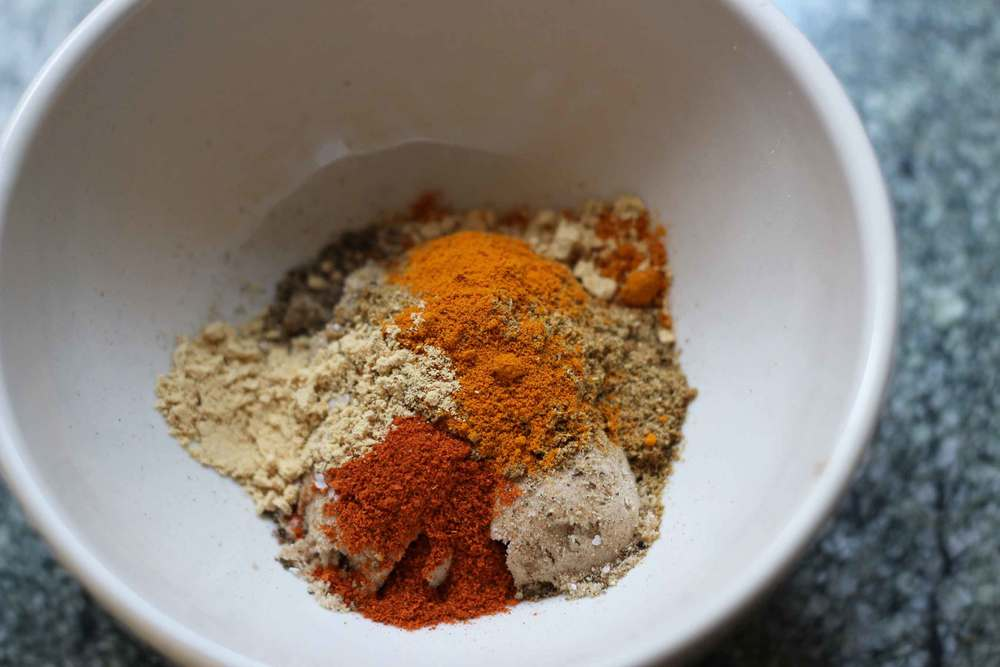 spice blend for sockeye salmon, recipe from Thread & Whisk