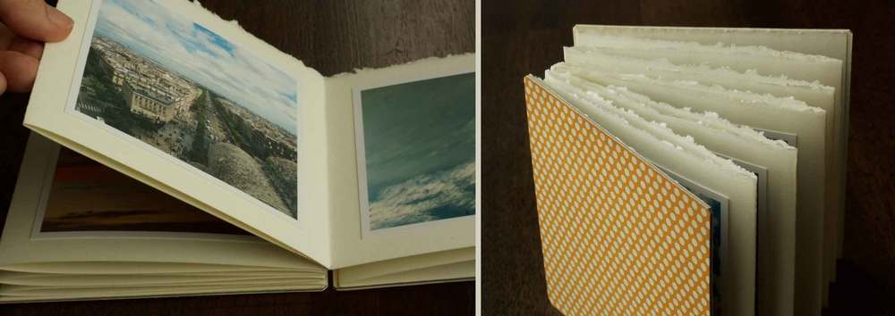 """In the Clouds""  handmade accordion photo book project, Thread & Whisk"