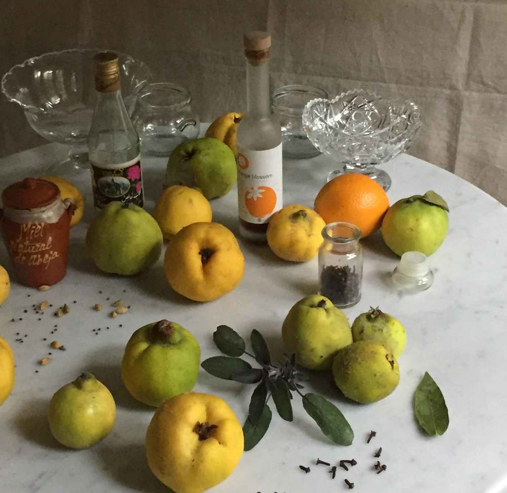 quince compote ingredients, savory & sweet, recipe by Thread & Whisk, Thanksgiving, Fall harvest