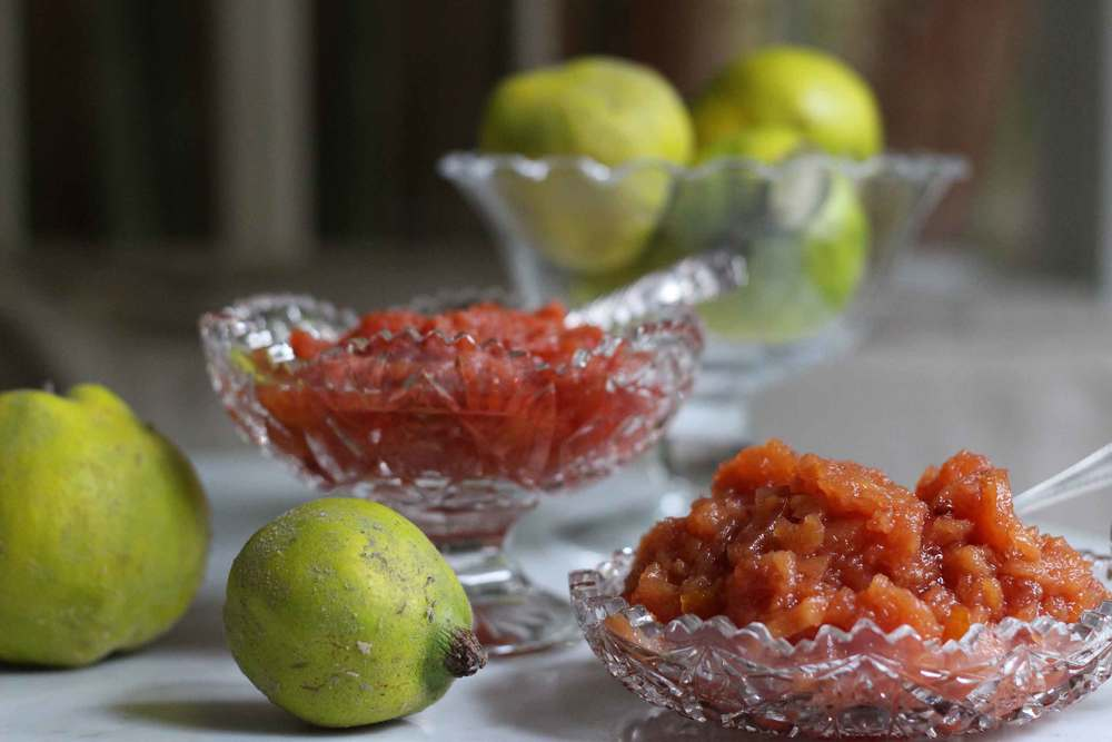 quince compote, two ways.  sweet and savory, recipe by Thread & Whisk