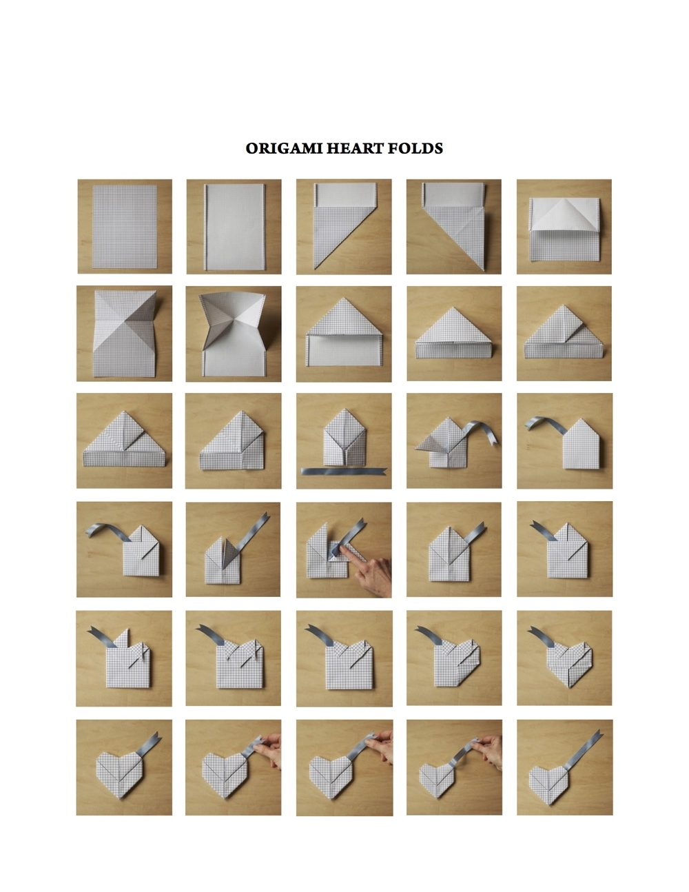 origami heart folds