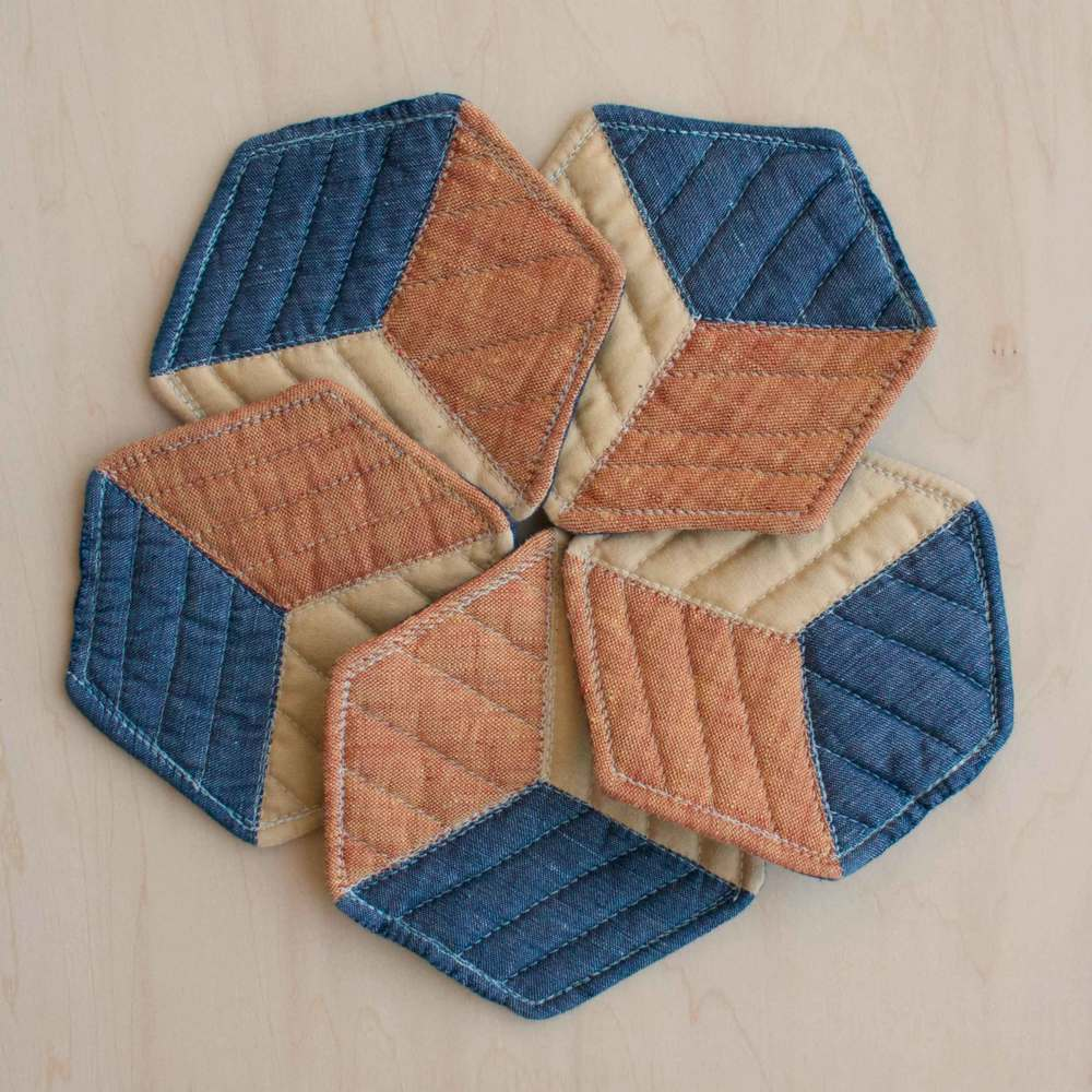 Quilted coasters by Thread & Whisk