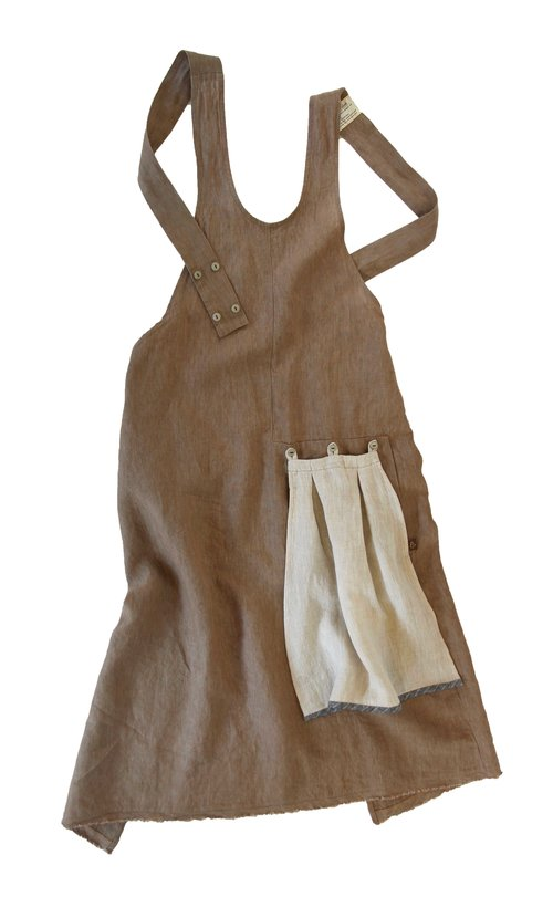 Khaki Grace Apron |  ThreadandWhisk.com