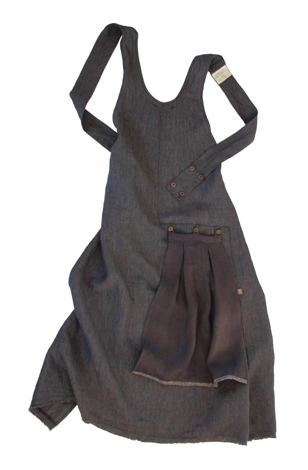 Charcoal Grace Apron |  ThreadandWhisk.com