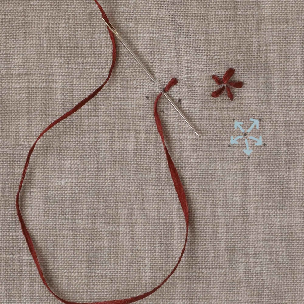5 Petal Flower Stitching