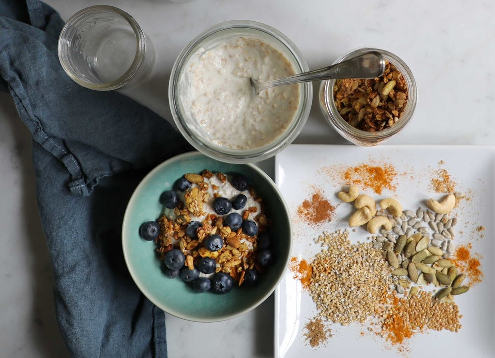 Wake up to a spicier, more satisfying breakfast. Filled with flavors like ginger, cardamom, cinnamon, coriander and turmeric, this crunchy and chewy oatmeal bowl with stick with you til lunchtime rolls around.