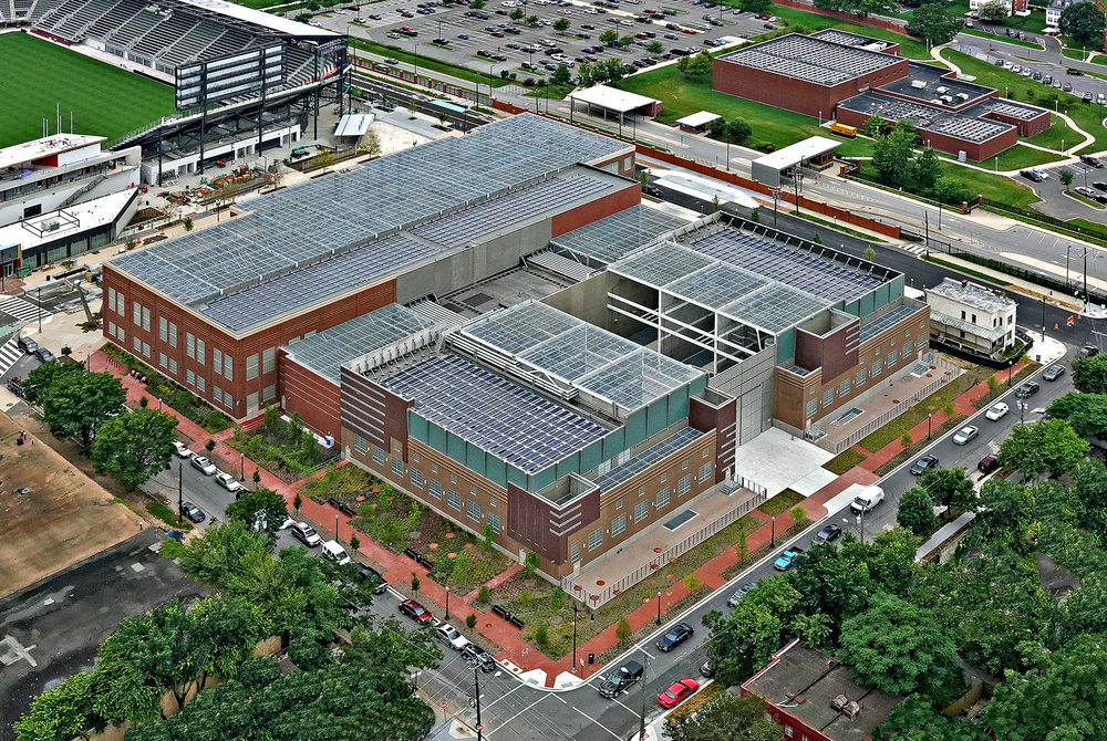 (Photo Credits: Sisson Studios) Aerial view of the Coakley and Williams Construction PEPCO Waterfront Substation project