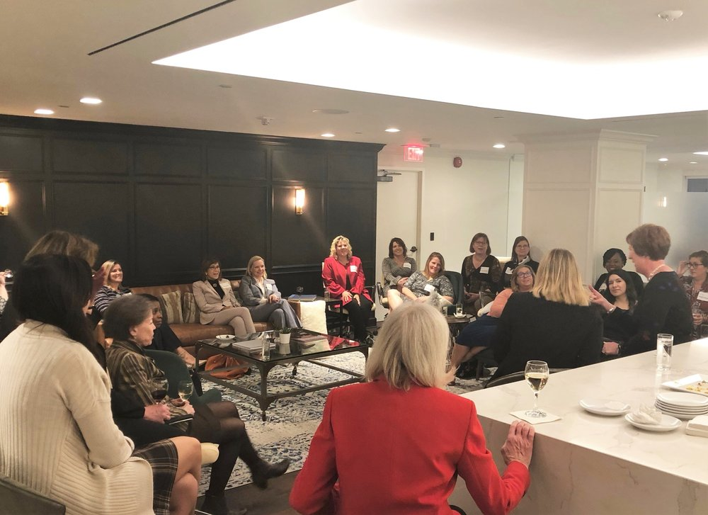The women of CREW DC got to know Lynn Bennett at The Army and Navy Club of Washington, DC