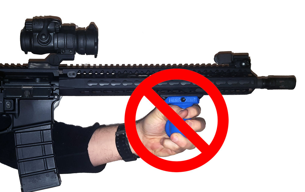 The TAC-SAC is not intended or designed to be used as a foregrip.