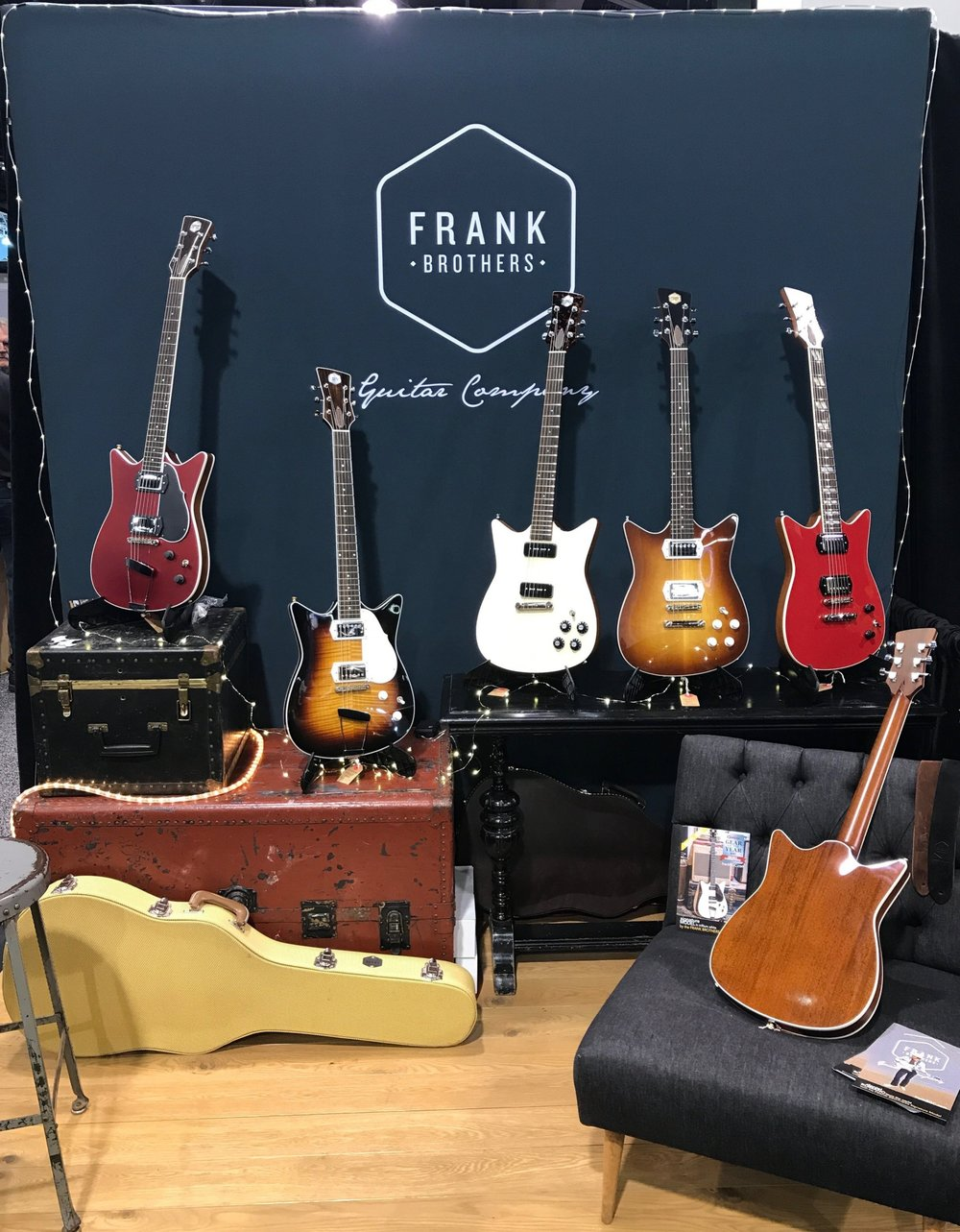 Frank Brothers Guitar Company NAMM 2018 Reverb Outstanding Boutique Guitar Companies