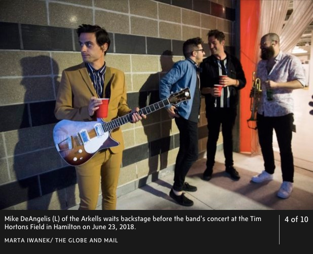 Frank Brothers Guitar Company, Globe and Mail Article, Arkells