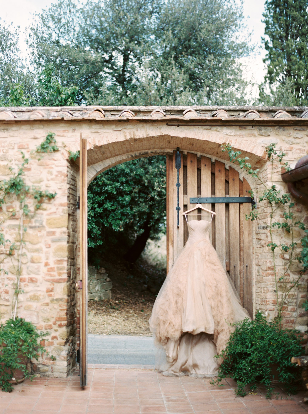Wedding dress in Italy by Katie Grant