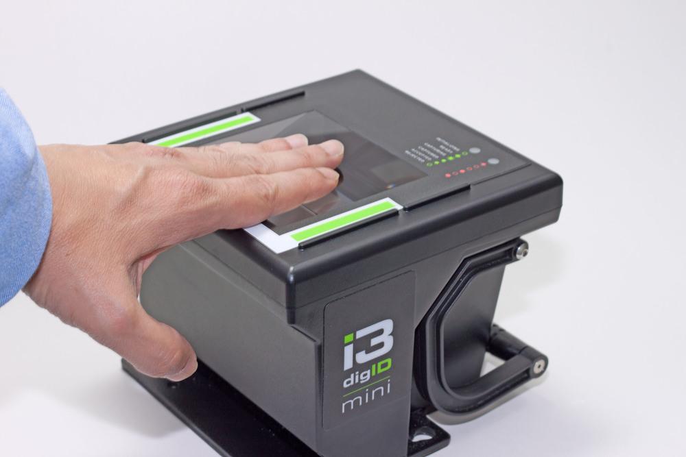 Step 1  Acquire your fingerpints using a fingerprint scanner. No Ink involved.