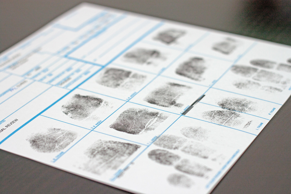 Step 3.  Once all the information is completed, we print out your fingerprints using the FD-258 form.