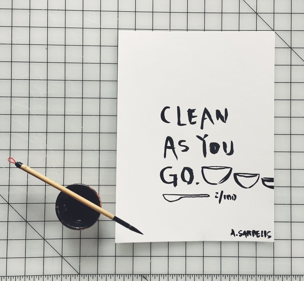 Clean As You Go by INDIGO & SNOW #100daysofsumi #The100DayProject www.indigoandsnow.com