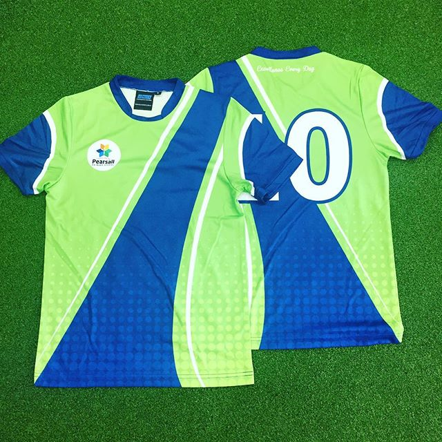 Sublimated Soccer Shirts for Pearsall Primary