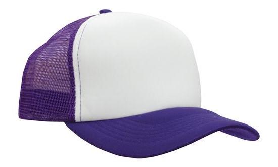 Purple / White