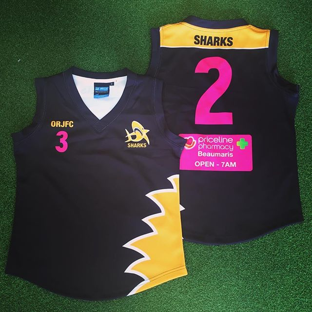 The footy jumpers for new ORJFC girls teams are looking very sharp indeed!