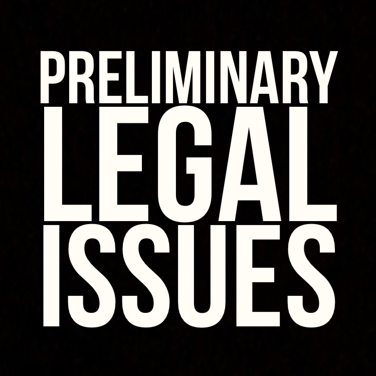 Preliminary legal issues