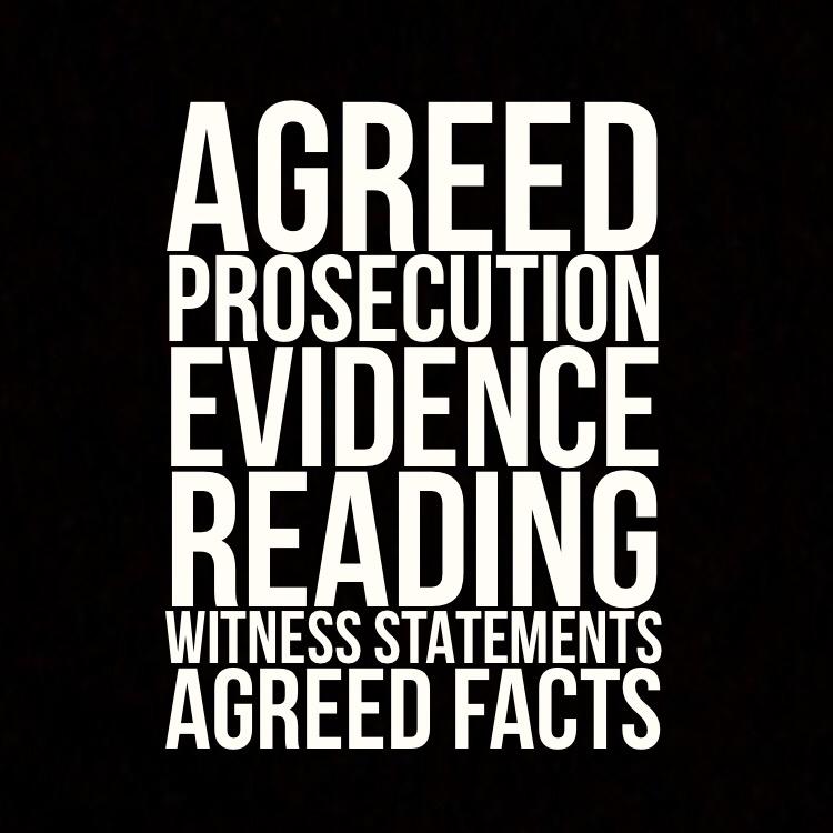 Agreed prosecution evidence