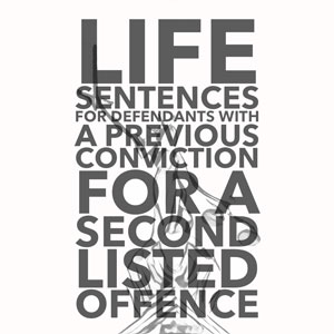 Life for Second Listed Offence