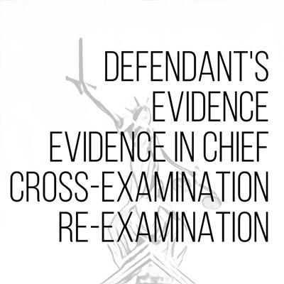 Defendant's evidence