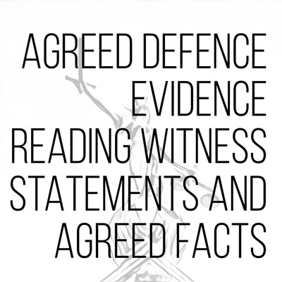 Agreed Defence Evidence
