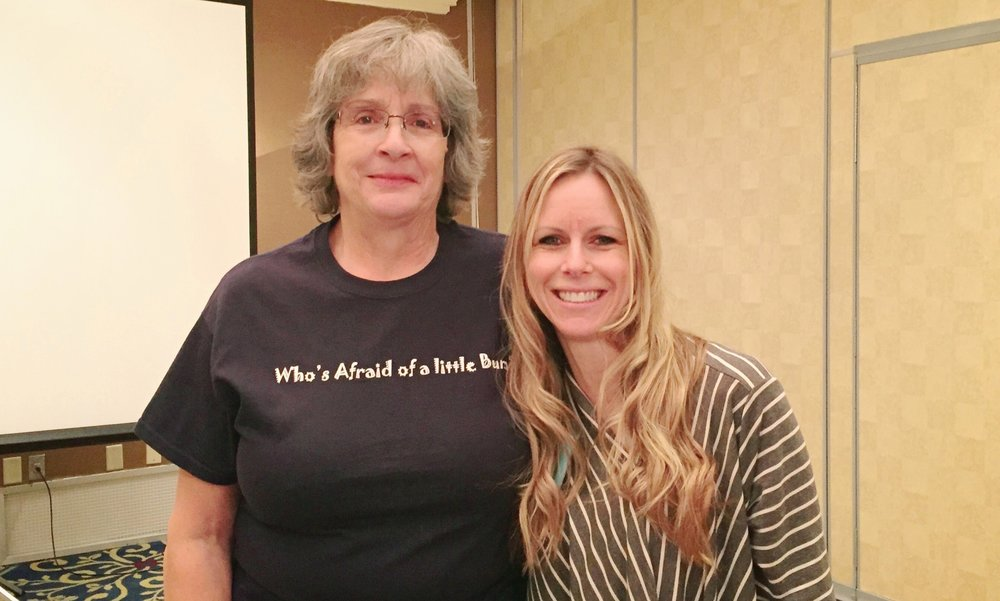 Mary Cooper (L) and Tara Garner (R), founder of NOVA Birth Services, met and struck a friendship at a midwifery conference in 2011.