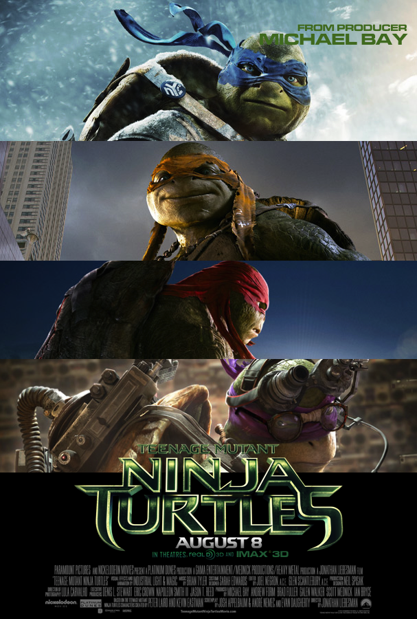 Outrage over Teenage Mutant Ninja Turtles poster that ... |Tmnt 2014 Poster 911