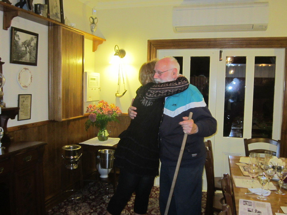 Our patron John was showing his thanks to the hostess at the Theatre Royal Hotel.JPG