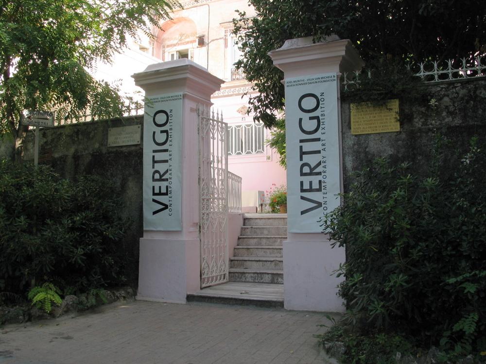 entré - utställningen Vertigo - Munthes Axel - Villa Rosa - Villa san Michele.jpg