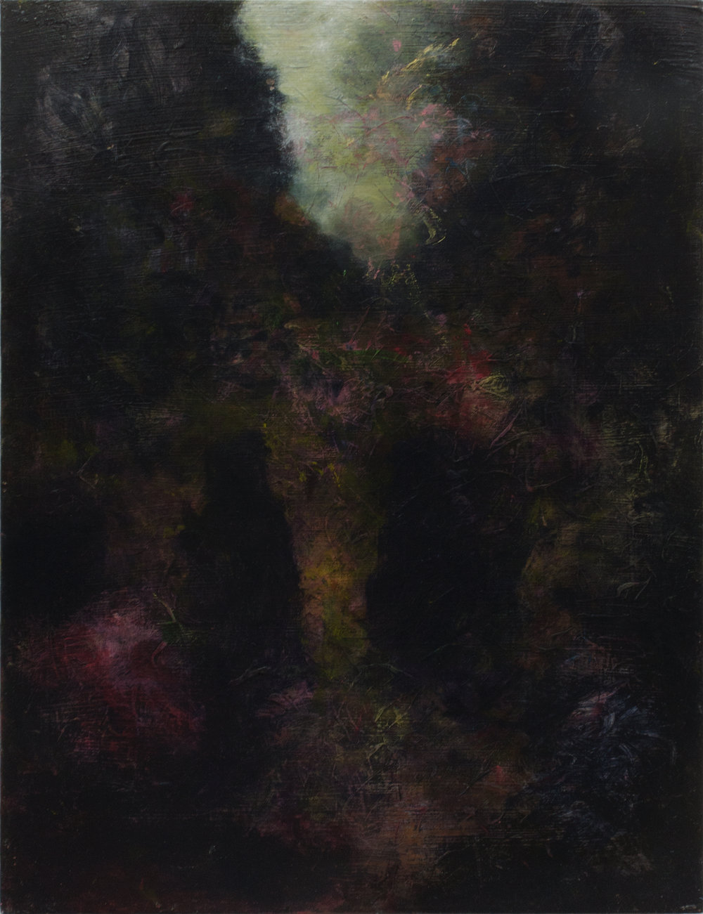 GLADE , Oil and Acrylic on board, 65×50 cm, Martin Ålund 2018