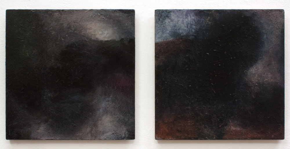 Lumen , Oil and Acrylic on board, 40×40 cm Martin Ålund 2018  High-res