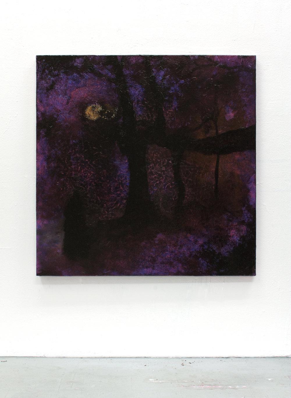 Purple  | Oil on canvas, 80x80 cm Martin Ålund 2018  High-res