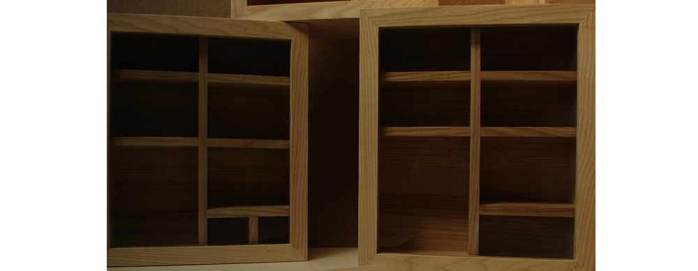 English ash display boxes