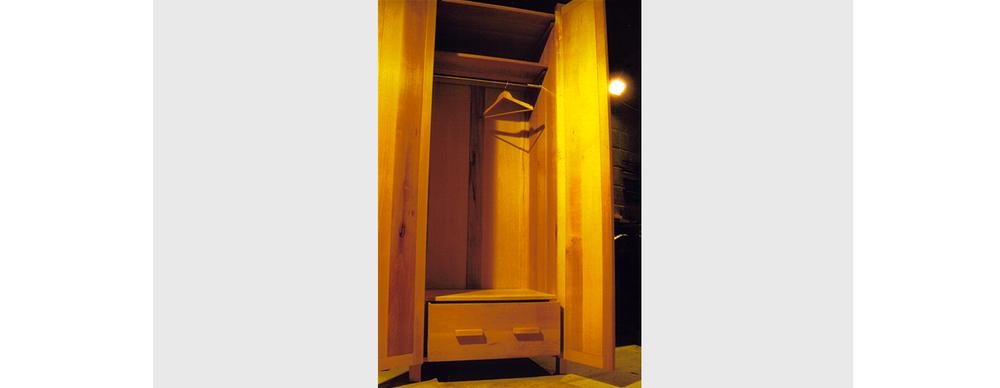 Beech wardrobe - interior