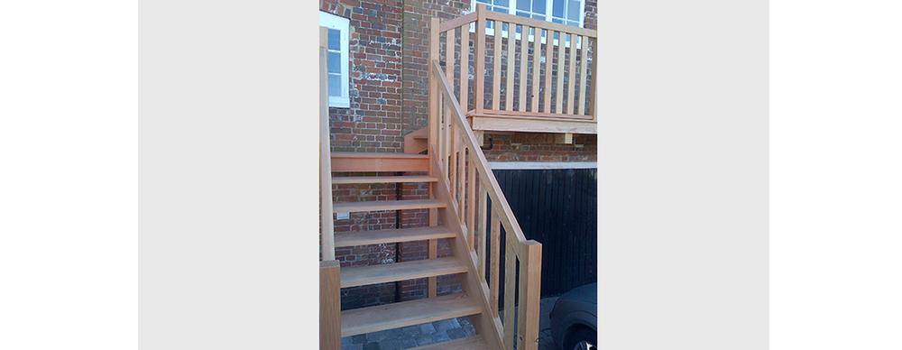 Corn Mill exterior staircase & walk way