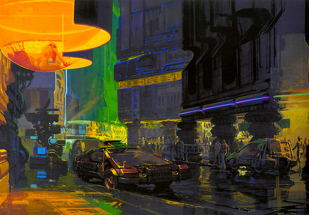 Syd Mead, one of the great concept designers. He worked on Blade Runner, Alien and TRON.