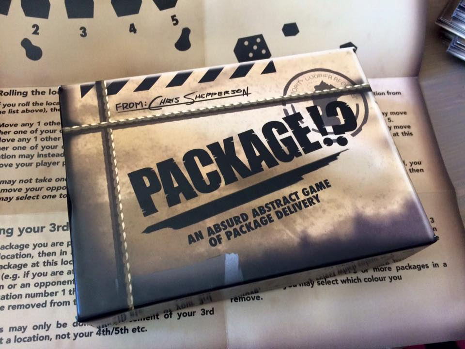 The first copy of Package!? hot off the press!