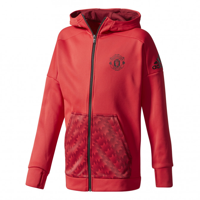 adidas Manchester United Red Hoodie