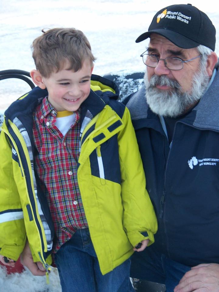 DELA director Terry Savage with his grandson, Nolan.