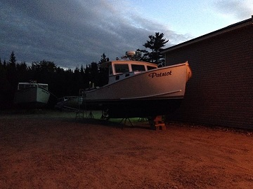 Robert fortin's gorgeous boat, F/V  Patriot  in the summer sunset.