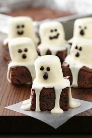 spooky brownies